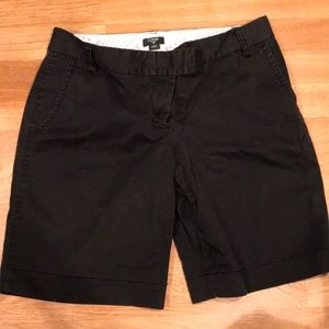 "J crew stretch black ""city fit"" short"